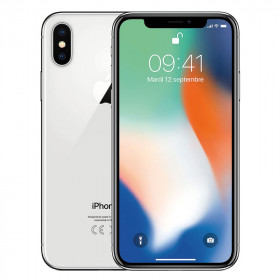 iPhone X Argent 64Go Reconditionné