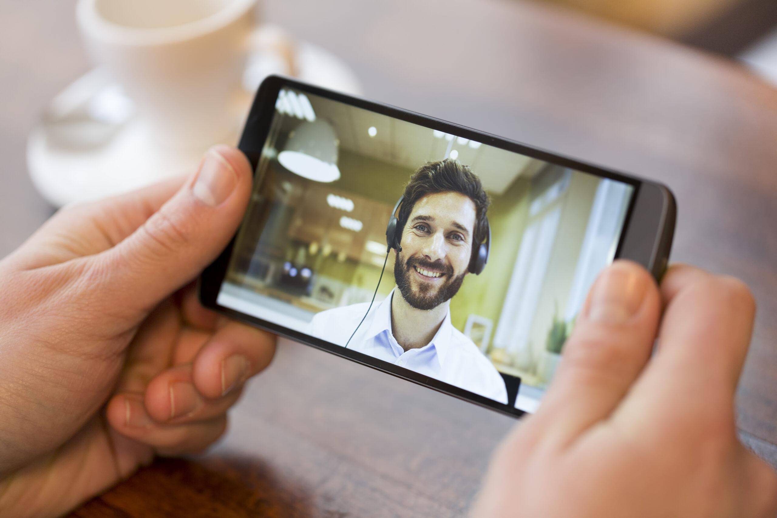 Visioconférence smartphone