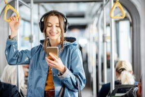 ecoute musique transport